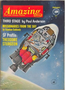 The February, 1962 issue of Amazing Stories, which I bought at Julie's Sweet Shop, hot off the presses.