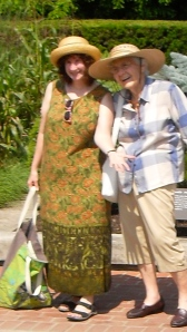 Dorothy & Mom, at Chicago Botanic Gardens.