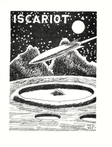 Iscariot cover, circa 1964, by REG, probably printed with electrostencil.