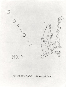 Sporadic #3 cover, circa 1961, by Robert E. Gilbert