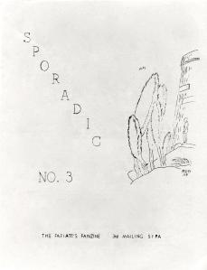 Sporadic #3 cover, circa 1961, by Robert E. Gilbert