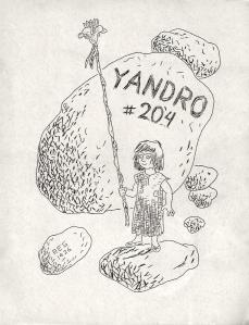 Yandro #204 cover, circa 1972, Robert E. Gilbert